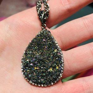 Beautiful Druzy Pendant Necklace